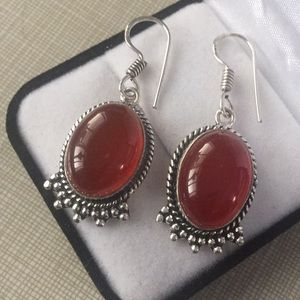 Jewelry - NEW Natural Carnelian Gemstone Earrings